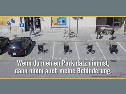 Wenn du meinen Parkplatz nimmst, dann nimm auch meine Behinderung
